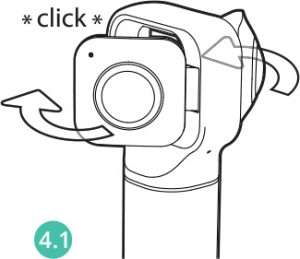 lenses lock in 360 mode position with a click